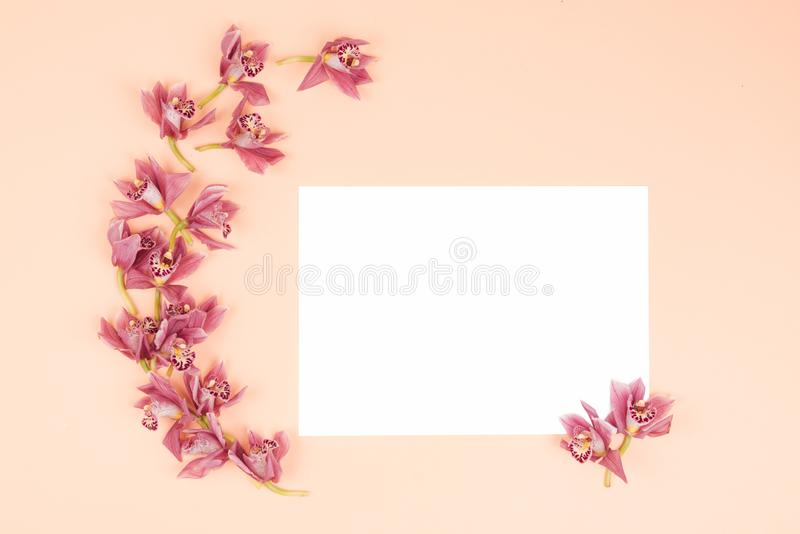 Flower pattern background. royalty free stock photography