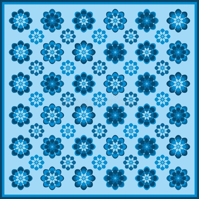 Flower pattern in blue colors royalty free stock photo