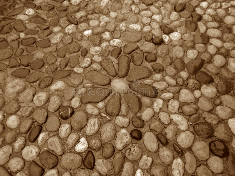 Flower Pattern Cobblestone Path of the Mostar Old Town royalty free stock images