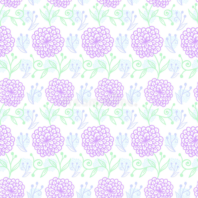 Download Flower pattern stock vector. Image of repetition, drawn - 59458283
