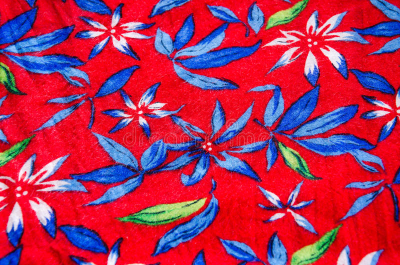 Flower pattern on the fabric stock image