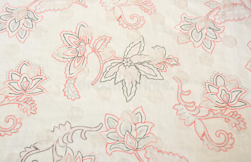 Flower pattern on the fabric stock images