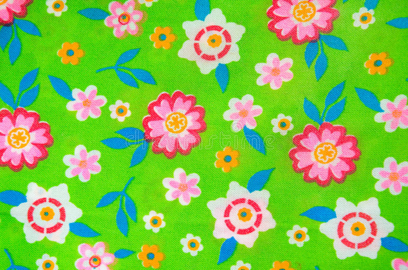 Flower pattern on the fabric royalty free stock image