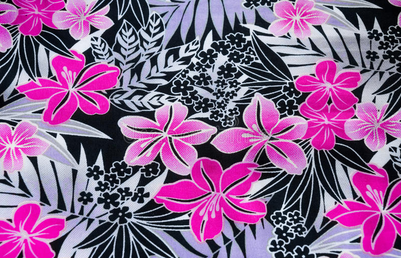 Flower pattern on the fabric royalty free stock images