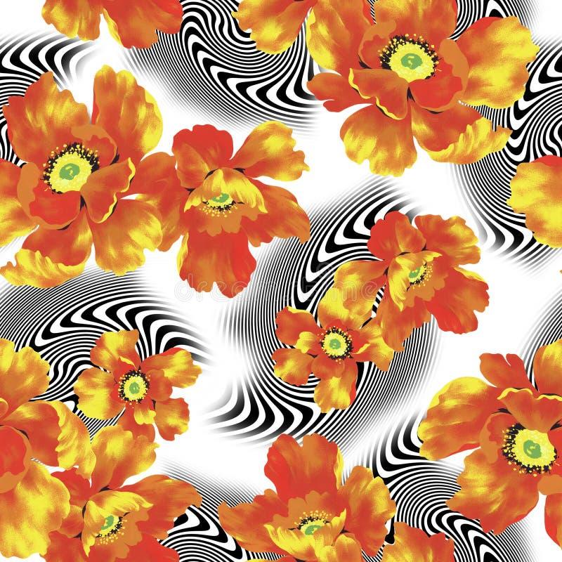 Flower pattern royalty free illustration
