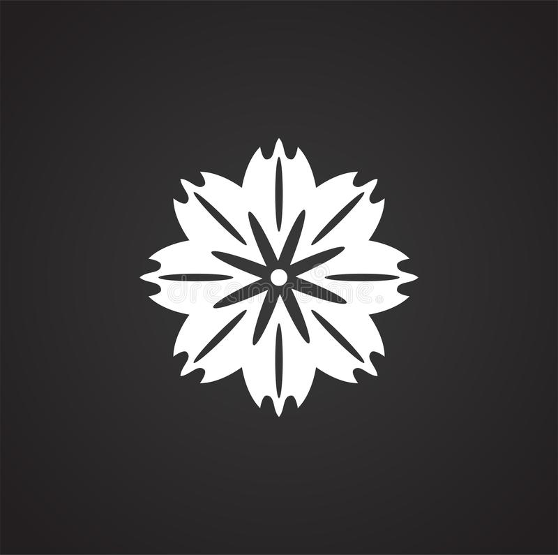 Flower pattern icon on background for graphic and web design. Simple illustration. Internet concept symbol for website royalty free illustration