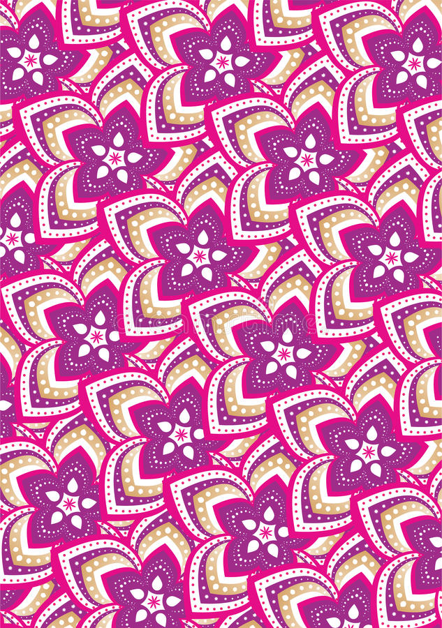 Flower pattern mandala royalty free illustration