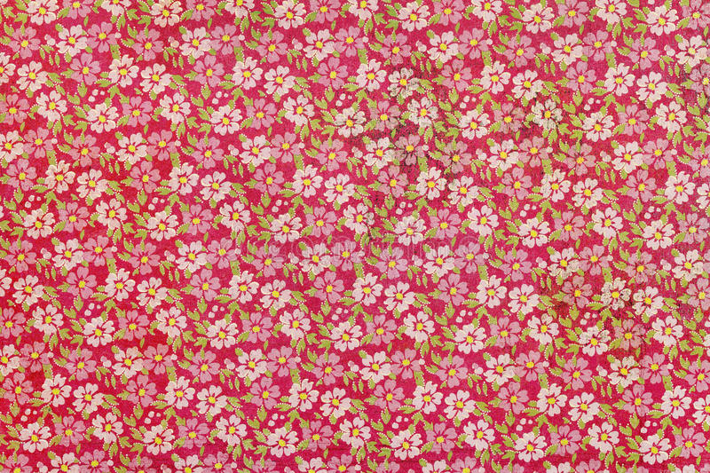 Flower pattern paper. Close up of flower pattern paper royalty free stock images