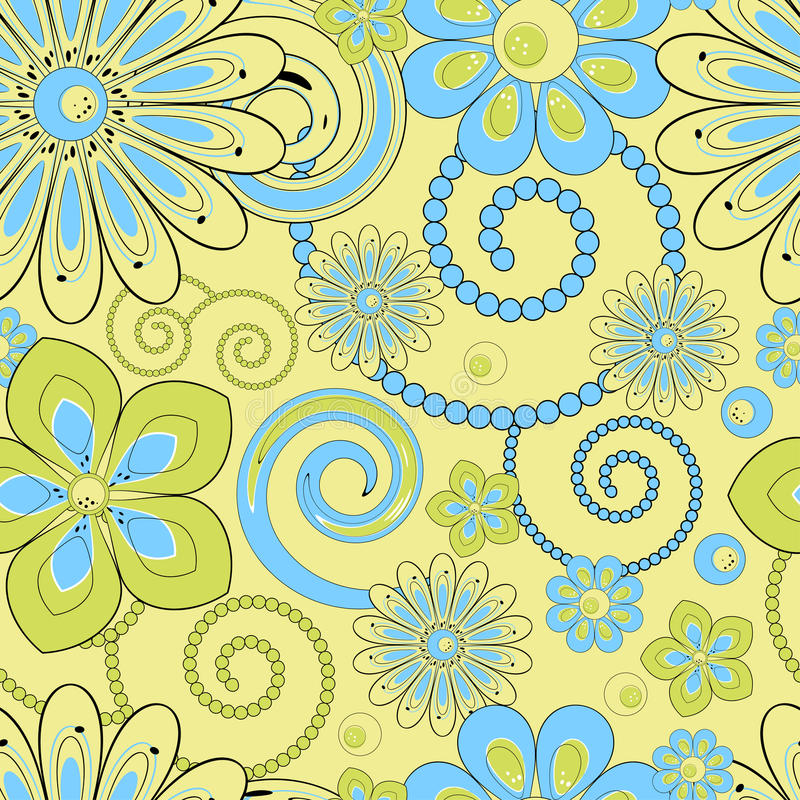 Free Flower Pattern Seamless Royalty Free Stock Photography - 22210407