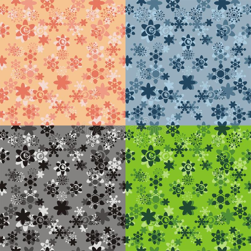 flower pattern seamless vector stock illustrationer