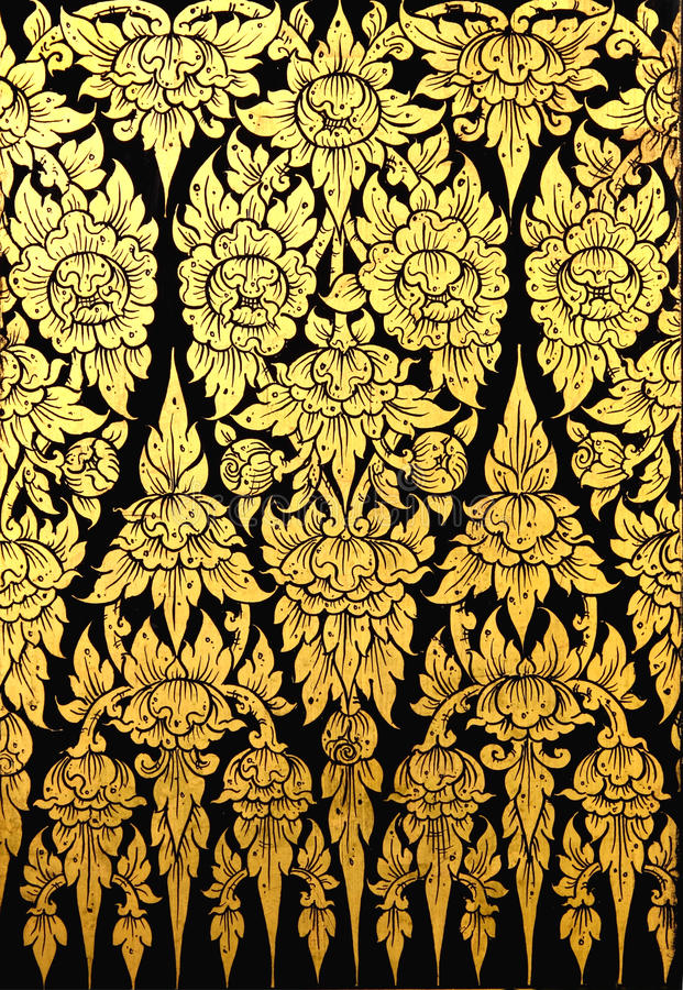 Download Flower Pattern In Traditional Thai Style Art Stock Photo - Image of asia, element: 16791714