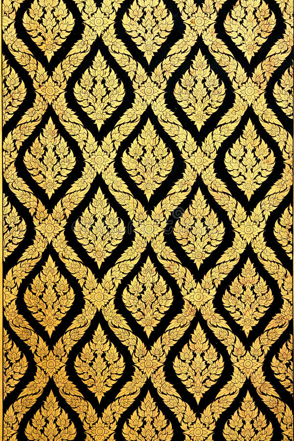 Download Flower Pattern In Traditional Thai Style Art Stock Image - Image: 16792101