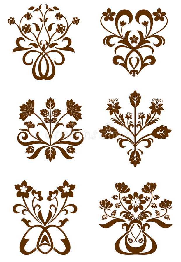 Flower patterns royalty free illustration