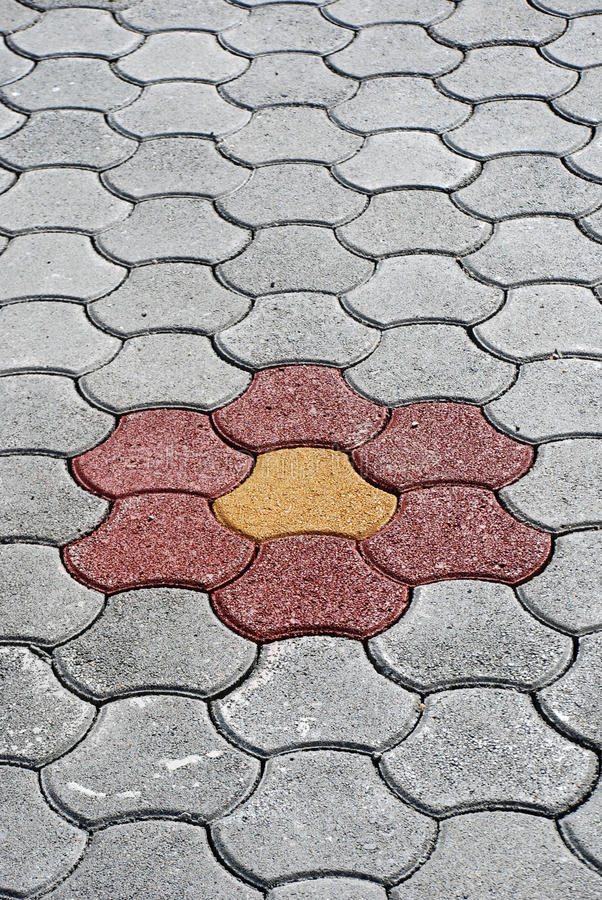 Download Flower pavement stock image. Image of street, perspective - 25589085