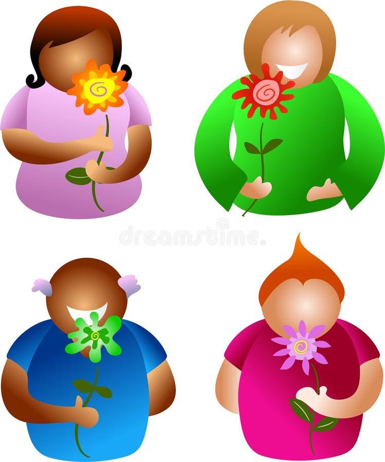 Download Flower people stock illustration. Image of smelling, nature - 471413