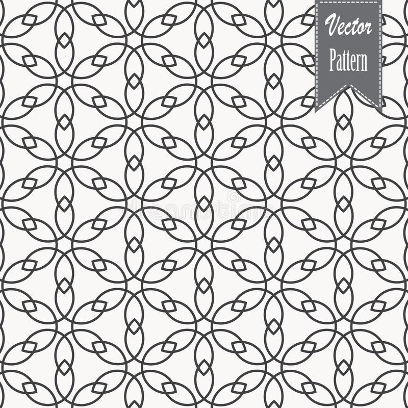 Flower petal or leaves geometric pattern vector background. Repeating tile texture of this line on oval shape with gradient effect. Pattern is clean usable for stock illustration