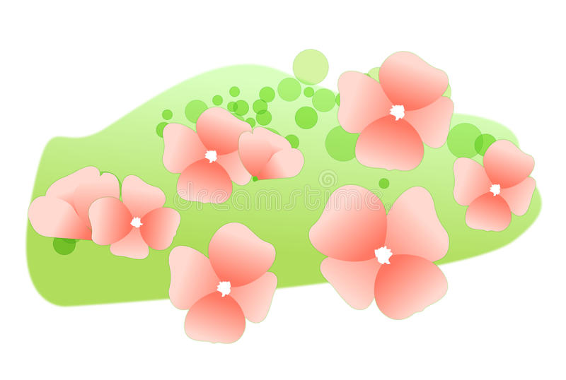 Download Flower petals on the lawn stock illustration. Image of flora - 9791012