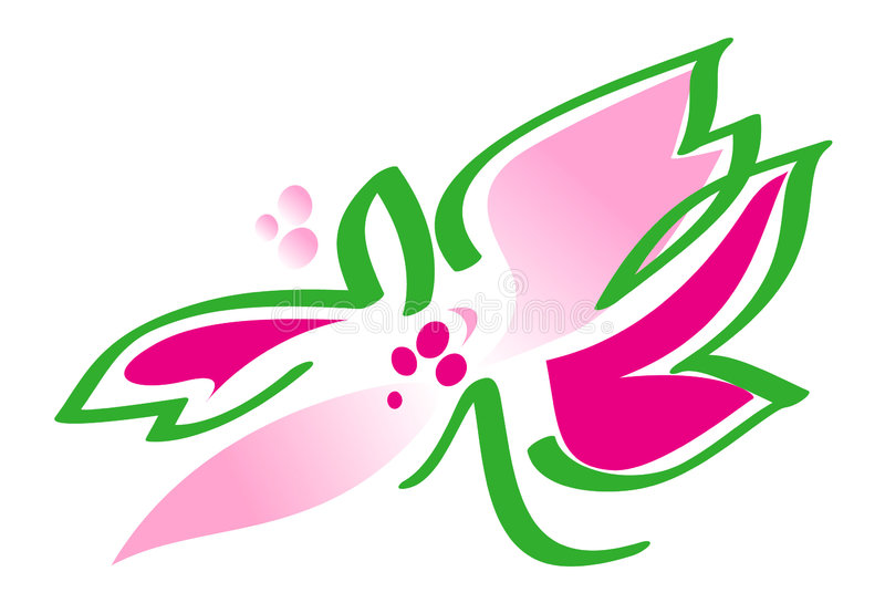 Download Flower In Pink And Green -  Illustration Stock Illustration - Illustration of green, nature: 158112