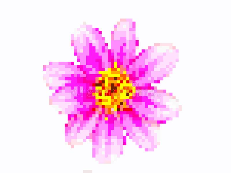 Flower pixel art stock photos