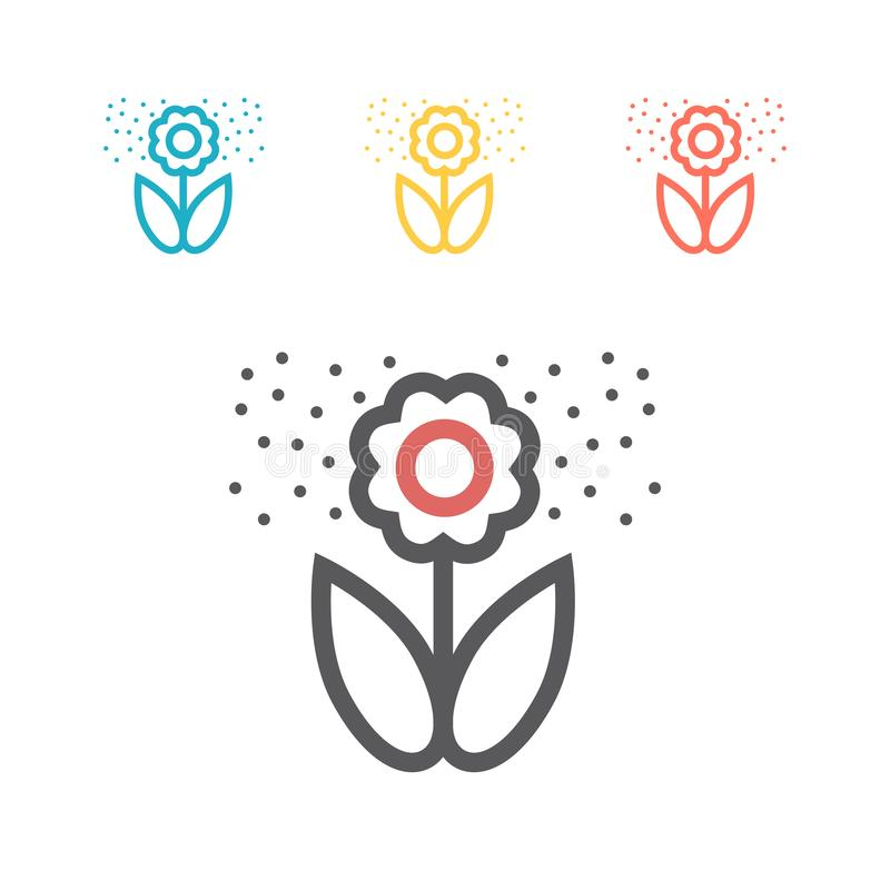 Flower pollen line icon. Vector icon for web graphic. royalty free illustration
