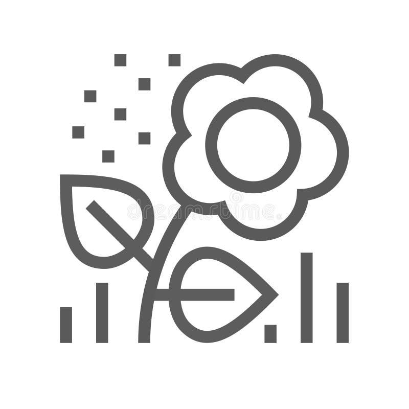 Flower Pollen Vector Line Icon. Editable Stroke. 48x48 Pixel Perfect vector illustration