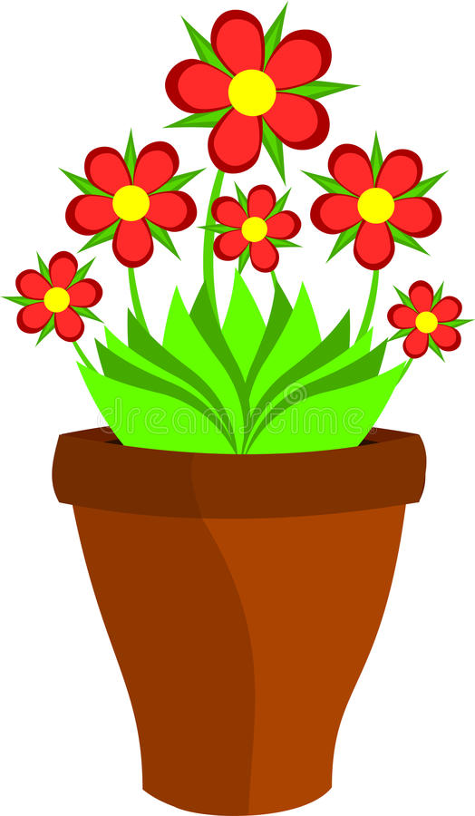 Flower pot stock vector. Illustration of pattern ...