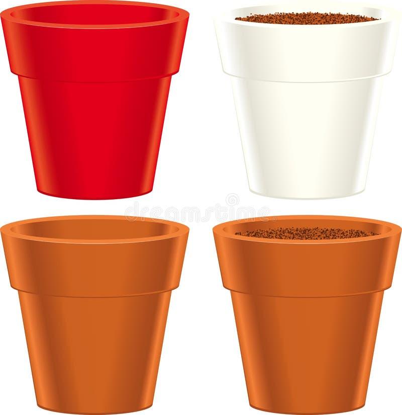 Download Flower pot stock vector. Image of flower, vector, illustration - 28032784