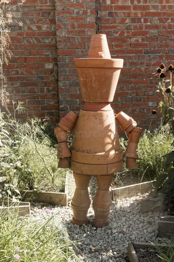 Flower Pot Man royalty free stock photos