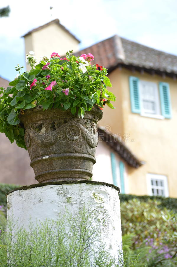 Download Flower Pot - Portmerion Village In Wales Stock Photo - Image: 91015396