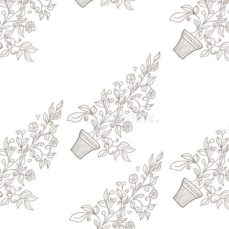 Flower in pot sketch seamless pattern stock vector illustration download flower in pot sketch seamless pattern stock vector illustration of diagram elegance ccuart Image collections