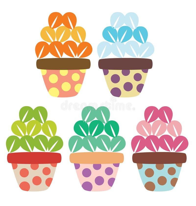 Flower Pots stock illustration
