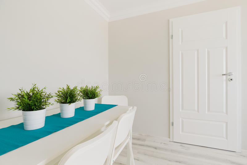 Download Flower pots on the table stock image. Image of dining - 55252511