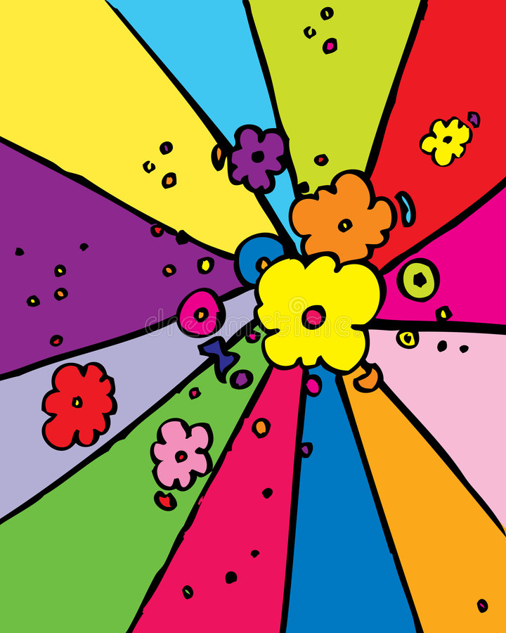 flower power stock illustrationer