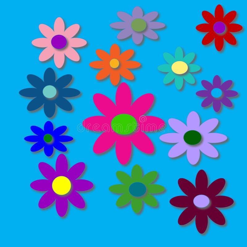 Flower power mit hellem blauem Hintergrund stockfotografie