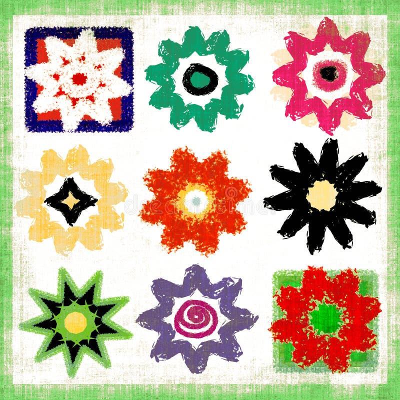 Flower Power Pop Art Mix vector illustration