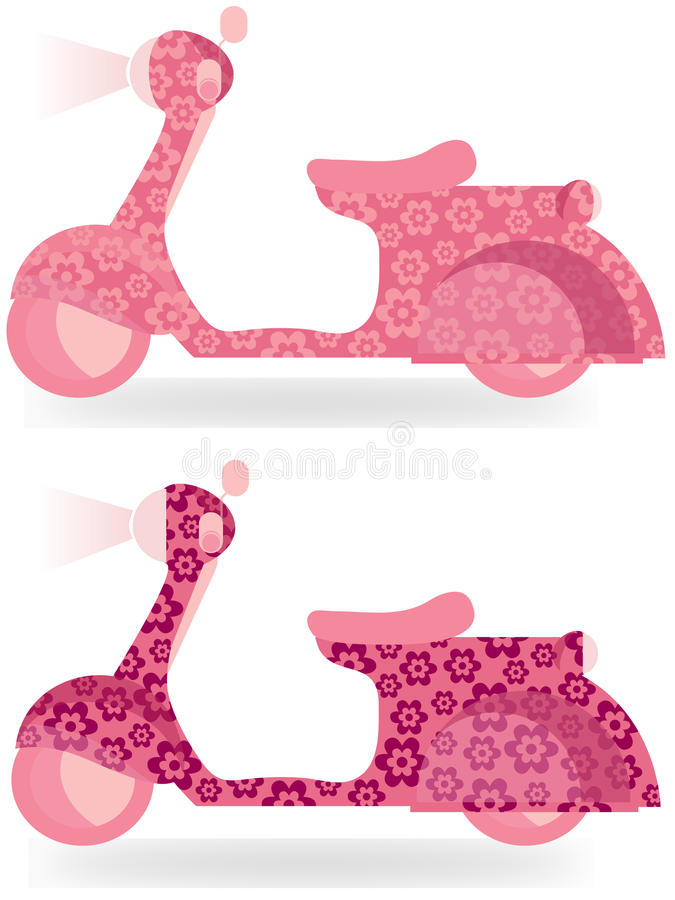 Flower Power Scooter Royalty Free Stock Image