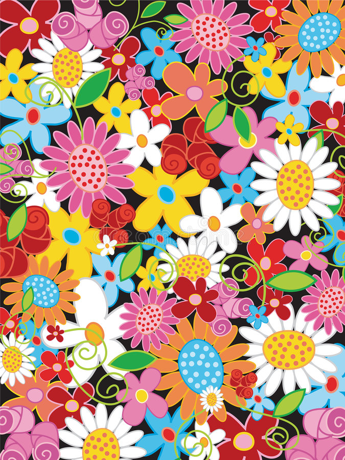 flower powersommar vektor illustrationer
