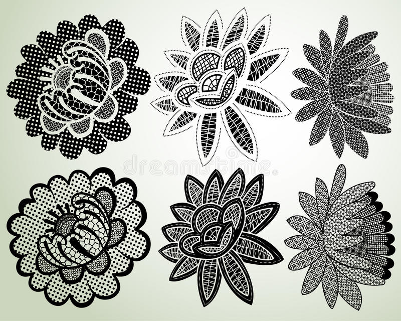 Download Lacy flower elements stock vector. Illustration of abstract - 29832437