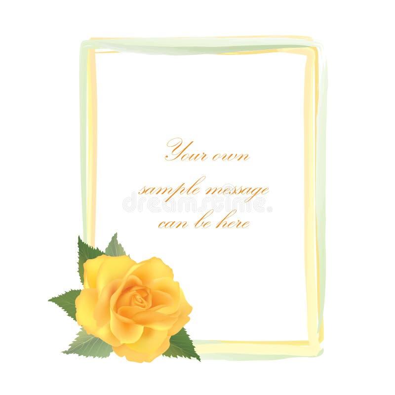 Flower rose frame stock illustration