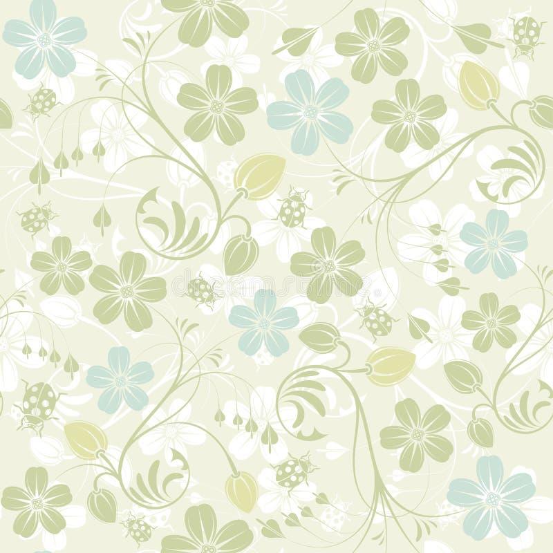 Flower seamless pattern vector illustration