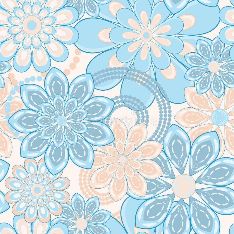 Flower seamless pattern stock illustration