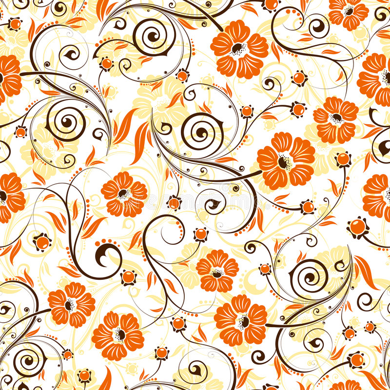 Flower seamless pattern. With bud, element for design, vector illustration vector illustration