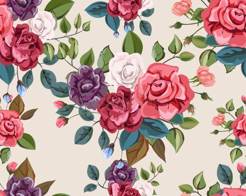 Flower seamless pattern beautiful nature stock illustration