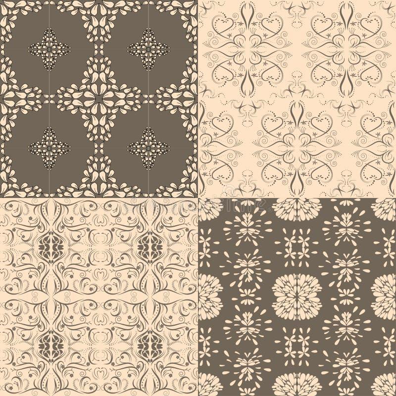 Flower seamless pattern set, floral vector designed. Flower seamless pattern set, floral vector designed vector royalty free illustration