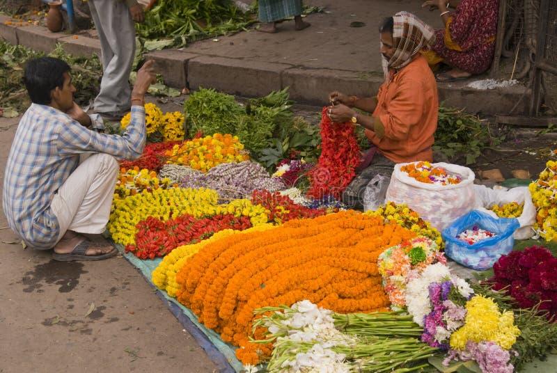 Flower Seller stock images