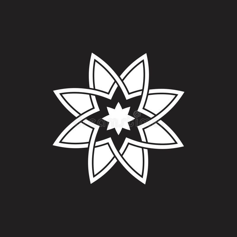 Flower shape swirl geometric logo vector vector illustration