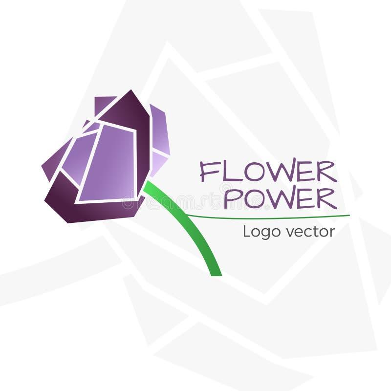 Flower shop logo royalty free illustration