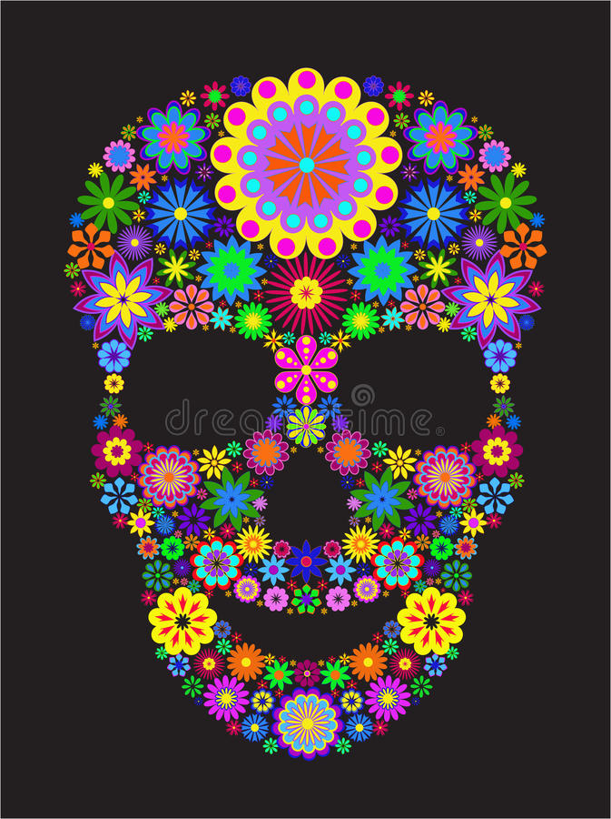 Free Flower Skull Royalty Free Stock Image - 20906496