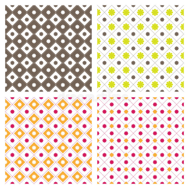 Download Flower Square Seamless Pattern Background Stock Vector - Illustration: 31598168