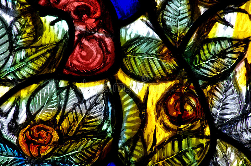 Flower in stained glass. A stained glass photo of stained glass flowers royalty free stock images